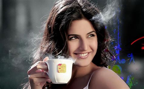 cute katrina hd wallpaper katrina kaif drinking coffee hd wallpaper