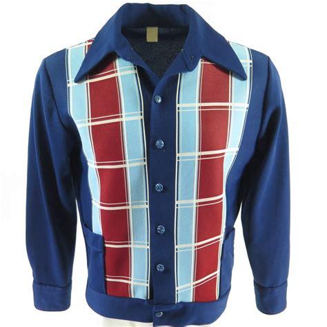 Mens Planel Shirt L S Contempo vintage 70s leisure panel shirt mens l painted buttons