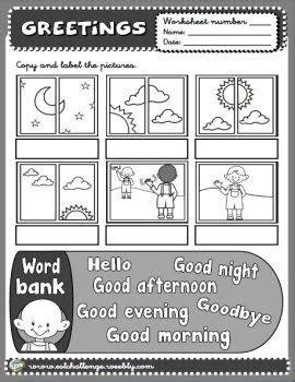 greetings worksheet greetings worksheets