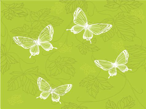 green butterfly powerpoint template ppt backgrounds