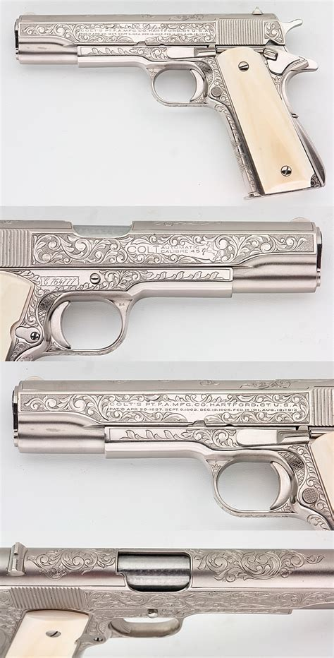 Gamis Pearl Syari By Lilgorgeous colt 1911a1 govt customized engraved nickel ivory grips 45
