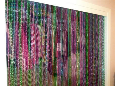 Beaded Curtains For Closet Doors Ways To Reuse Mardi Gras Cut In Half To Strings Of Then Glue Two Ends Together