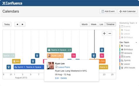 Confluence Calendar Team Calendars For Confluence Atlassian