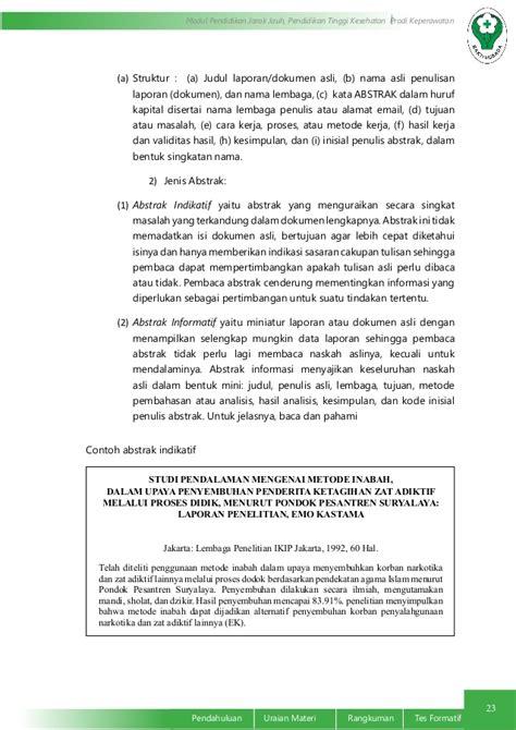format tulisan artikel contoh abstrak informatif fragrance coupon