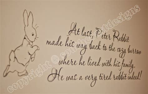 beatrix potter wall stickers rabbit quotes quotesgram