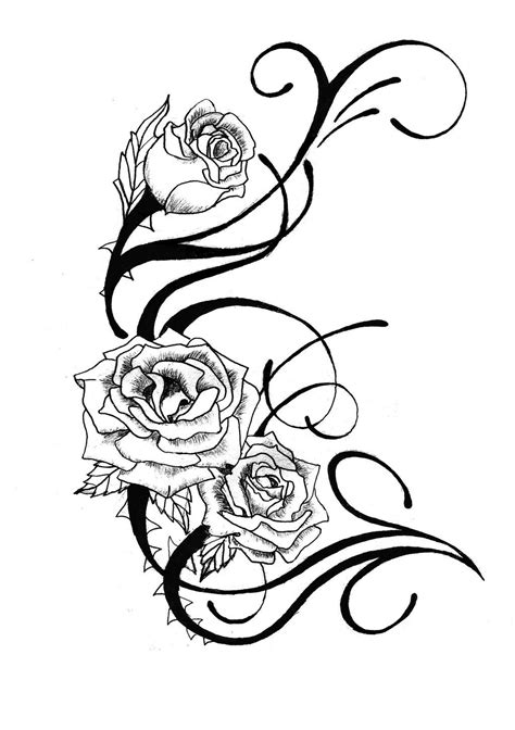 design art tattoo tattoos drawing designs rose tattoo design by