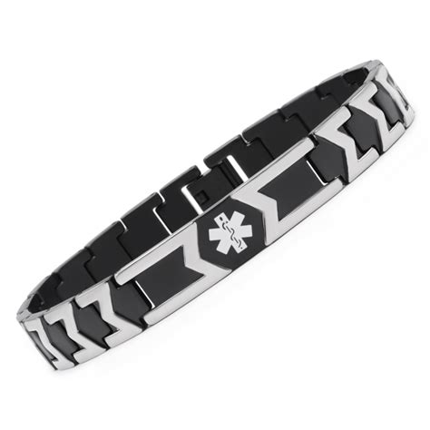 customized engraving novelty titanium id bracelets for with free