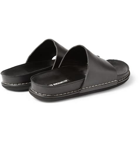 demeulemeester sandals demeulemeester leather sandals in black for lyst