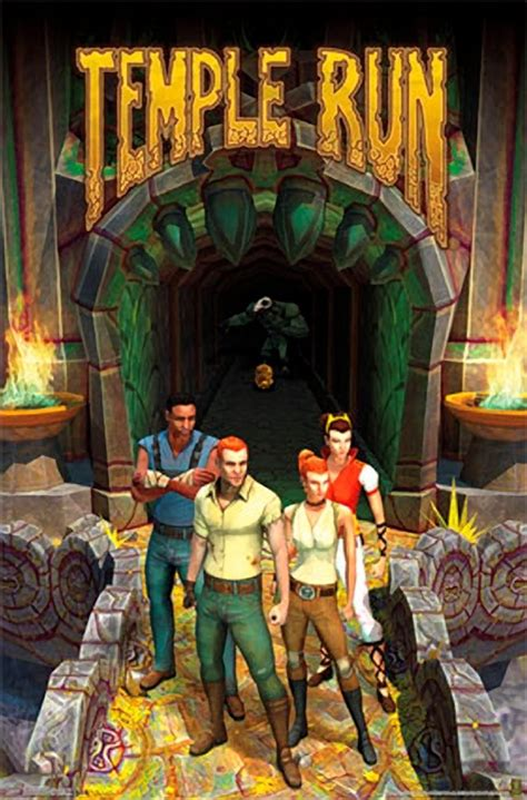 Wall Stickers Boys temple run group wall poster