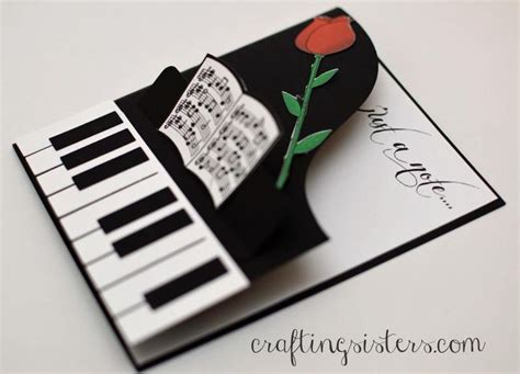 musical cards just a note card stin up handmade cards