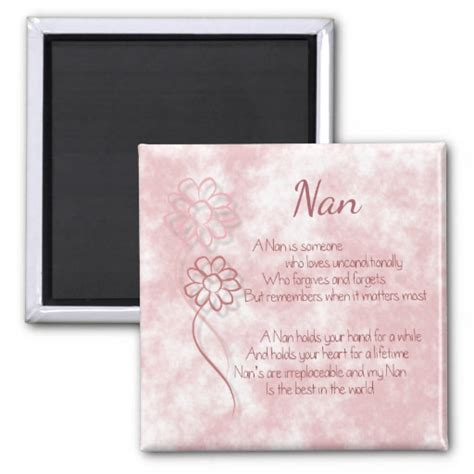 nan gifts for gift for nan beautiful words pink flowers zazzle