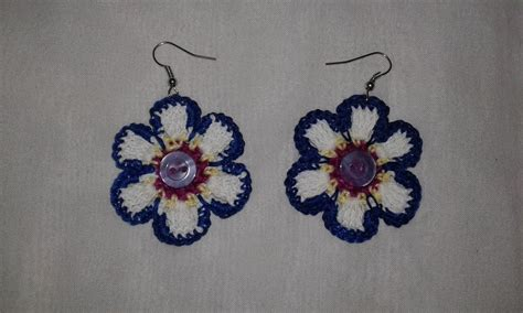 orecchini uncinetto fiore orecchini uncinetto fiore gioielli orecchini di
