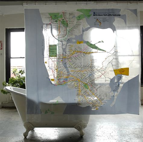 Nyc Subway Bathrooms by Map Series Shower Curtains Nyc Subway