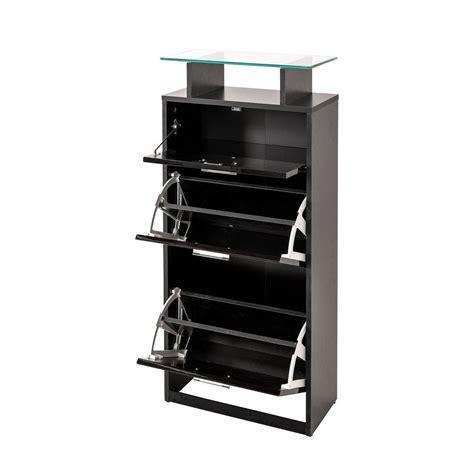 slimline shoe cabinet high gloss rack storage holder