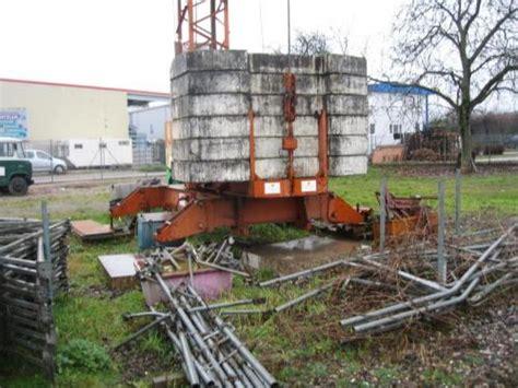 Peiner Smk 101 Kran Lagerplatzkran Bauunternehmen