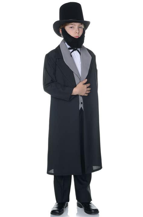abraham lincoln costume for child abraham lincoln presidential child costume purecostumes