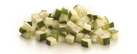 zucchini carbohydrates 100g diced courgettes our range
