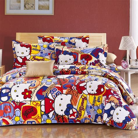hello kitty queel full size bedding set 187 petagadget