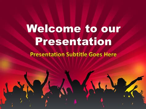Crowd Powerpoint Template Powerpoint Presentation Ppt Welcome Slide For Ppt