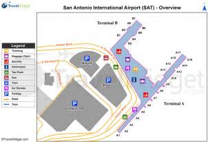 Rental Car From To San Antonio San Antonio Airport Map My