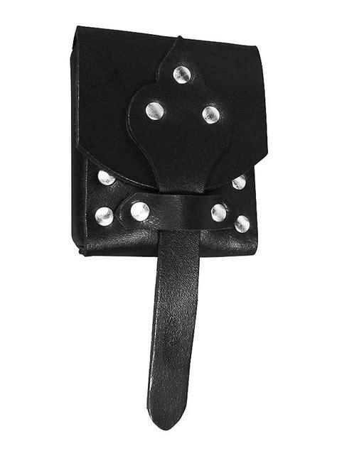 small leather belt pouch black maskworld