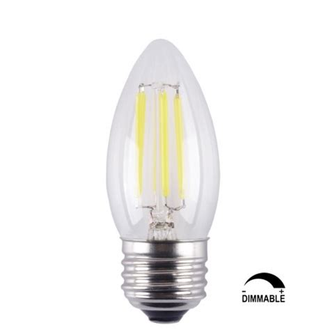 Led Light Bulbs Chandelier 6 Pack 6w Dimmable Led Filament Candle Light Bulb E26 Base Chandelier L 3200k Soft White