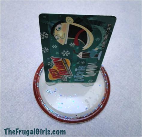 Mason Jar Snow Globe Gift Card - diy snow globe gift card holder in a jar the frugal girls