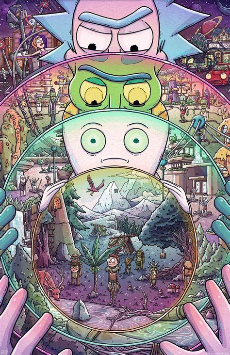 these rick amp morty inspired artworks are just fantastic