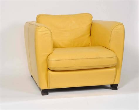 Yellow Club Chair by Pair Of 1960s Yellow Leather Club Chairs At