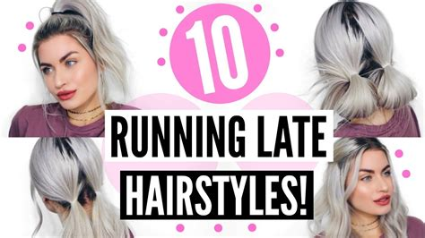 easy hairstyles running late 10 running late hairstyles heatless easy lyssryann