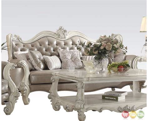 faux leather sofa and loveseat versailles button tufted vintage grey sofa and loveseat in