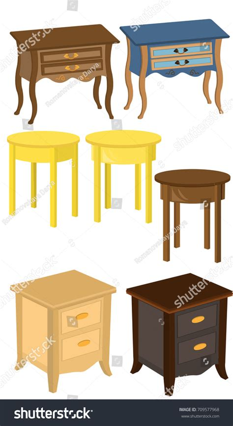 table next to bed bedside table curbstone table next bed stock vector