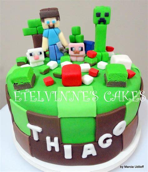 pastel decorado minecraft bolo minecraft etelvinnes cakes elo7