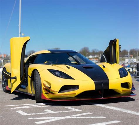 koenigsegg yellow the pagani huayra koenigsegg exposed and yellow