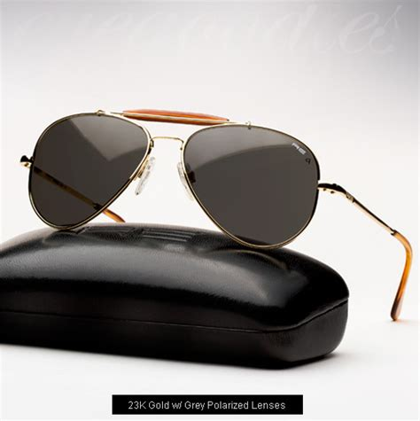 Kacamata Randolph Gold Black Lens randolph engineering sportsman s aviator sunglasses