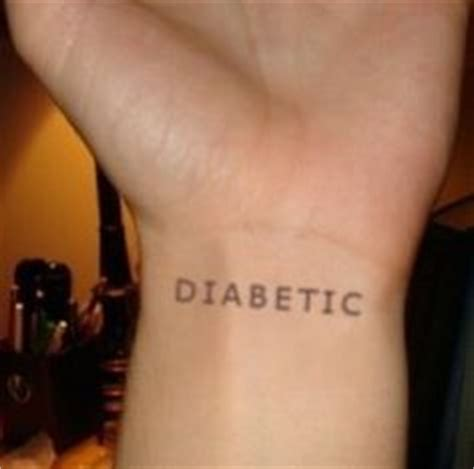 medical wrist tattoos diabetes tattoos on alert