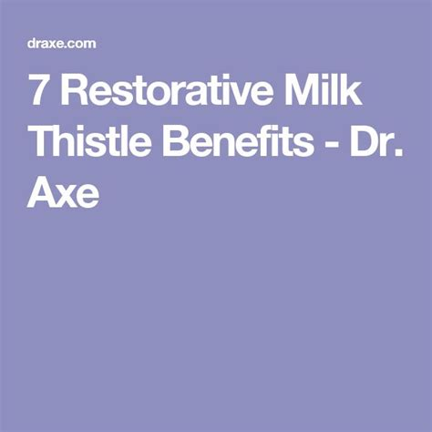Cell Detox Dr Axe by 25 Best Ideas About Milk Thistle Benefits On