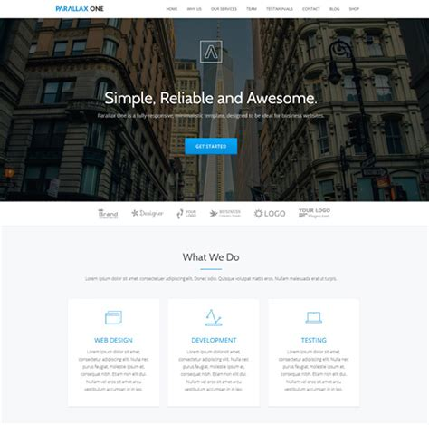themes wordpress parallax free 25 best parallax wordpress themes 2016 sourcewp