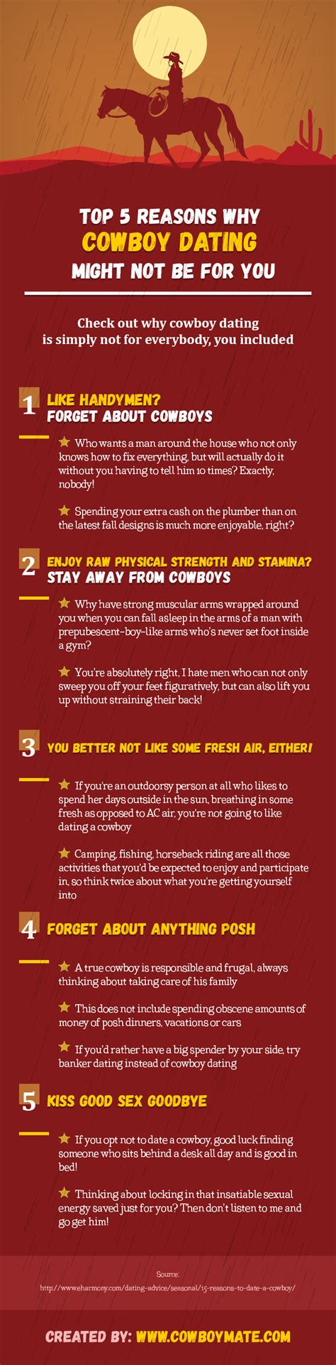 5 Reasons To Not Date by Top 5 Reasons Why Cowboy Dating Might Not Be For You