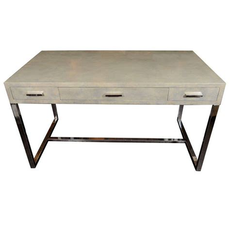 nickel plated desk l custom parchment desk with nickel plated legs and hardware