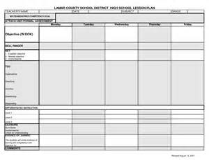 lesson plan template high school lcsd high school lesson plan template syllabus