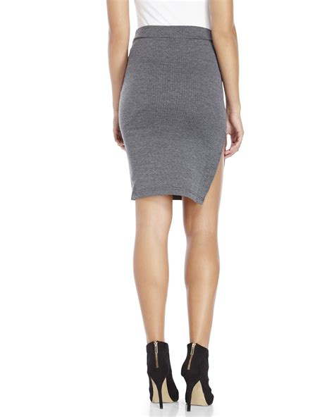 re named houndstooth pencil skirt in gray lyst