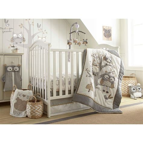 baby crib bedding sets levtex baby owl pink 5 crib