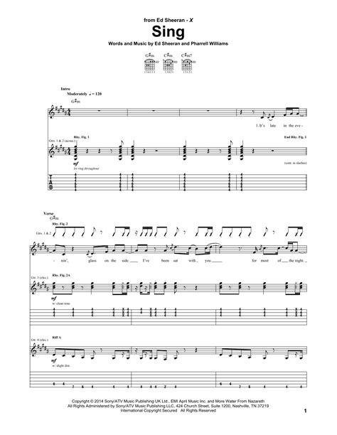 ed sheeran easy chords sing guitar tab by ed sheeran guitar tab 154113