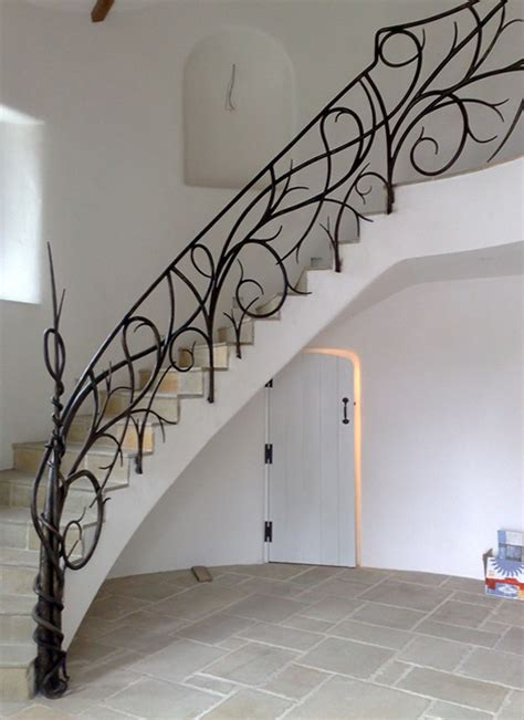 Iron Stairs Design Forged Iron Railings Custom Staircase Designs By Bushy Park Ironworks