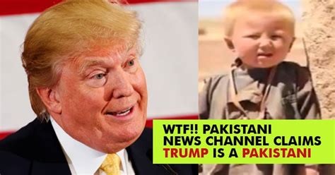 donald trump real name pak news channel claims trump is a pakistani his real