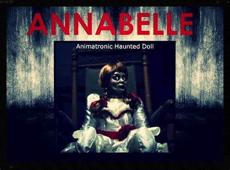 annabelle doll sale the haunted annabelle doll animatronic size the