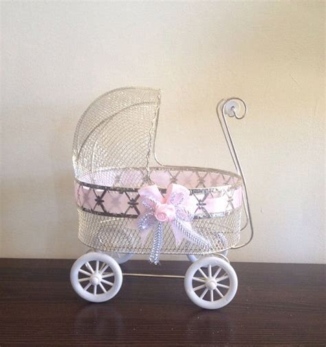 Baby Shower Carriage by Carriage Stroller Centerpiece Baby Shower Decor On Etsy