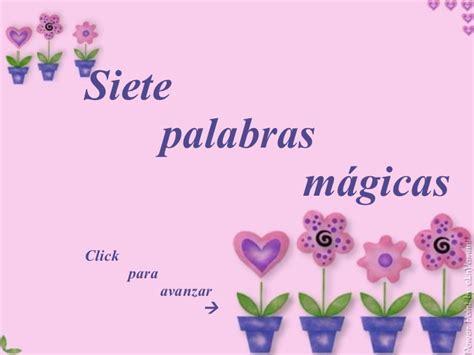 imagenes de palabras magicas para colorear siete palabras magicas