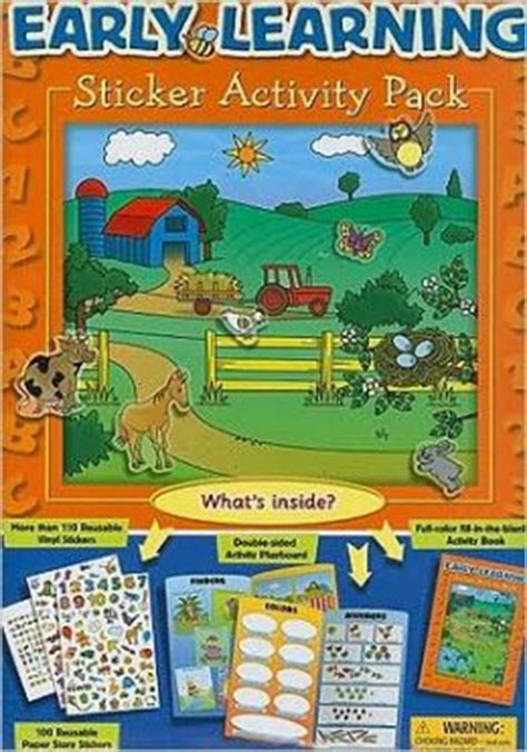 Sticker Activity Be A Learner With Friends 1 early learning sticker activity pack with color sticker storybook and reusable vinyl